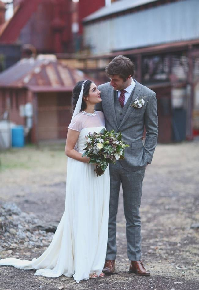 Artsy Industrial Wedding with Rustic + Vintage Details {j.woodbery photography} 16