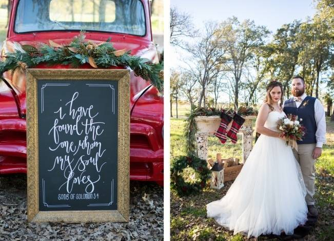 Christmas Styled Wedding Shoot {Shelly Taylor Photography} 4