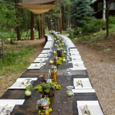 Colorado Mountain Wedding with Farm Table Reception