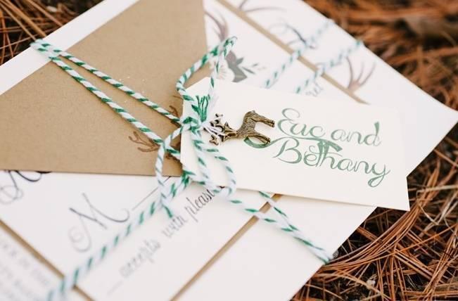 Deer Themed Woodland Wedding {Allie Siarto Photography} 3