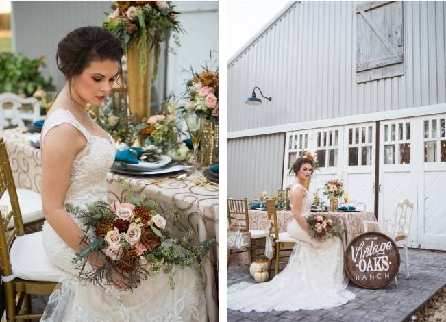 Elegant Fall Barn Wedding at Vintage Oaks Ranch {Shelly Taylor Photography} 15