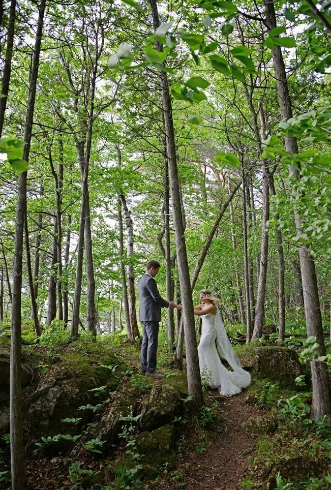 Boho Chic Vermont Wedding at Bolton Valley - Birke Photography 9