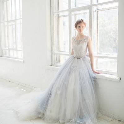 10 Beautiful Light Blue Wedding Gowns