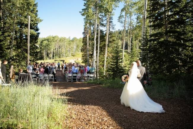 Pink + Peach Mountain Wedding at Canyons Resort {Pepper Nix Photography} 11