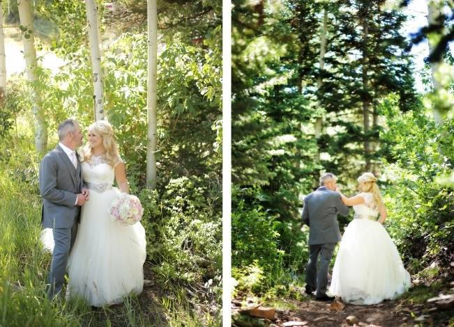 Pink + Peach Mountain Wedding at Canyons Resort {Pepper Nix Photography} 6