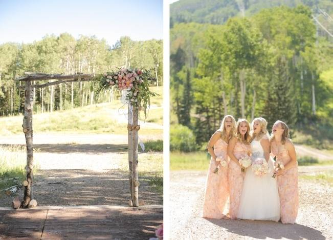 Pink + Peach Mountain Wedding at Canyons Resort {Pepper Nix Photography} 8