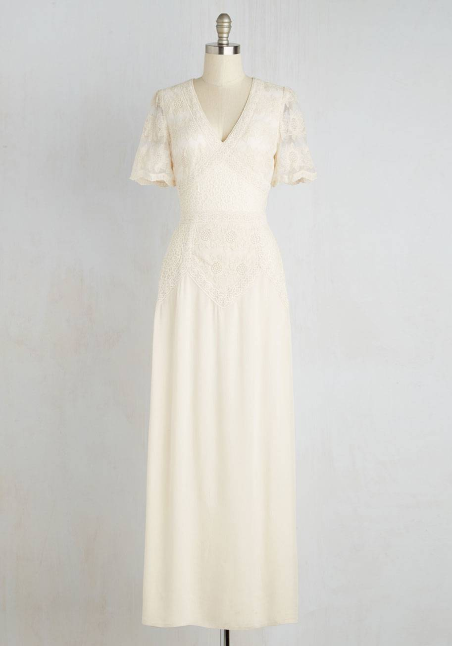Right Here and Vow Dress in Ivory - ModCloth $169.99