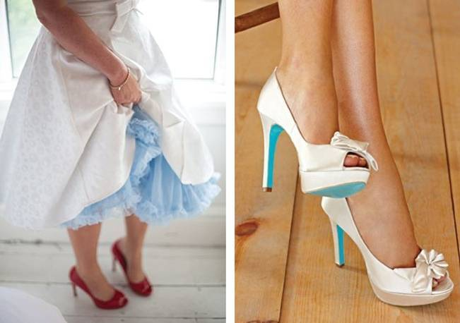 something blue - petticoat and soles