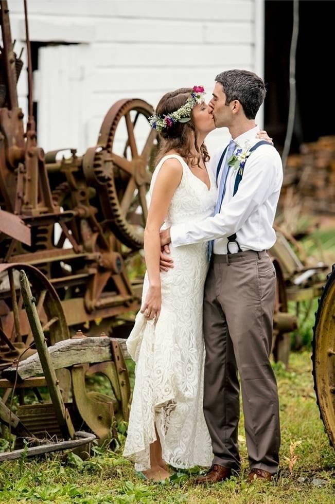 Colorful + Earthy North Carolina Farm Wedding 12
