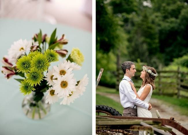Colorful + Earthy North Carolina Farm Wedding 14