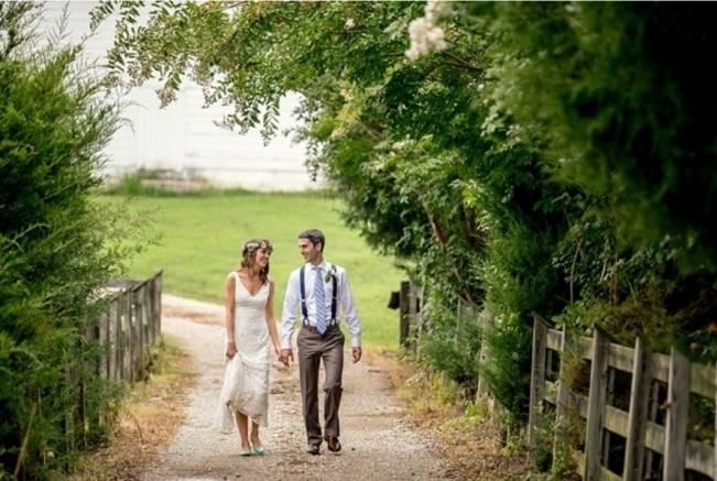 Colorful + Earthy North Carolina Farm Wedding 15