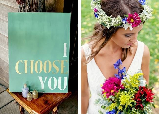 Colorful + Earthy North Carolina Farm Wedding 3