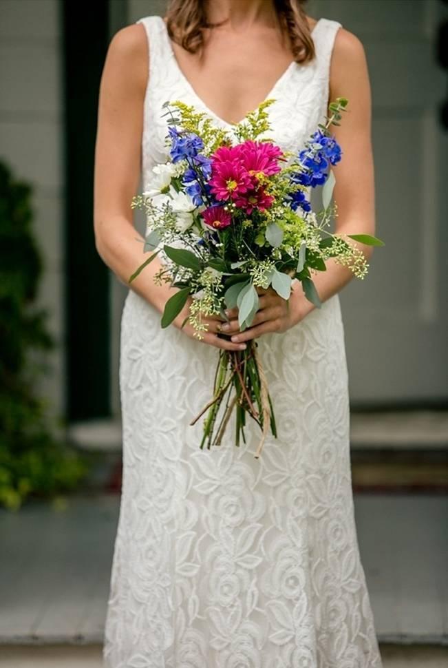 Colorful + Earthy North Carolina Farm Wedding 4