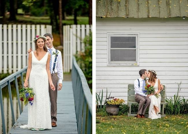Colorful + Earthy North Carolina Farm Wedding 7