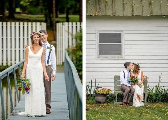 Colorful + Earthy North Carolina Farm Wedding 7