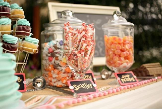 Coral + Sweet Mint Summertime Ranch Wedding Reception 15