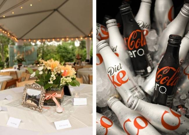 Coral + Sweet Mint Summertime Ranch Wedding Reception 18
