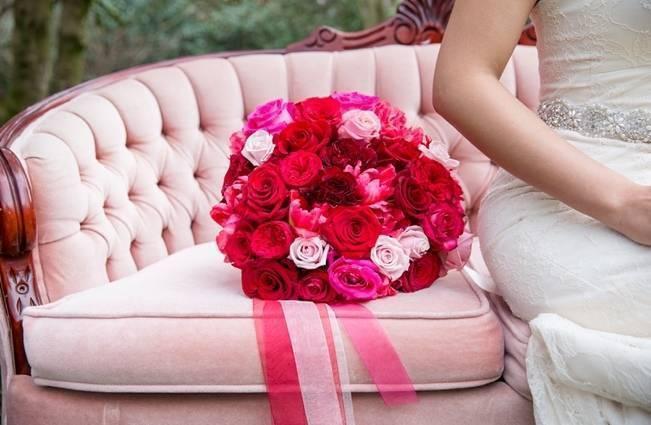 Fuchsia Floral Valentine Bridal Shoot 1