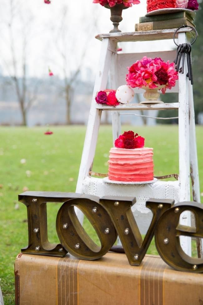 Fuchsia Floral Valentine Bridal Shoot 2