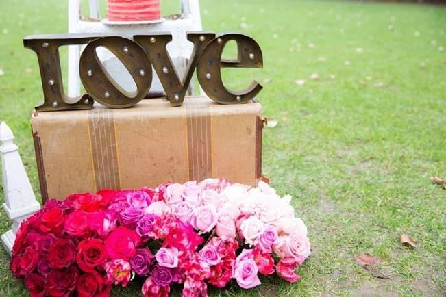 Fuchsia Floral Valentine Bridal Shoot 4