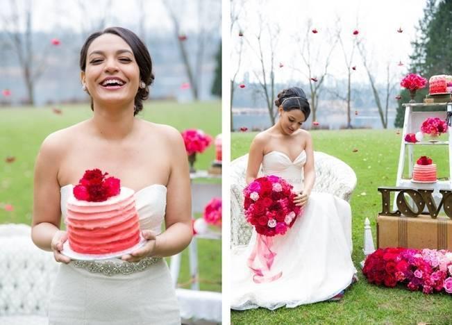 Fuchsia Floral Valentine Bridal Shoot 5