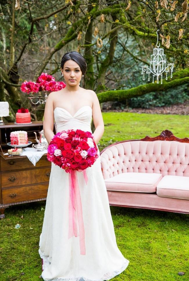 Fuchsia Floral Valentine Bridal Shoot 8