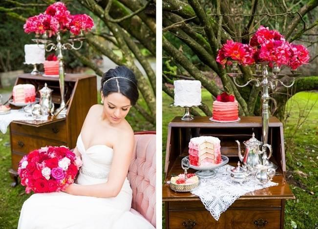 Fuchsia Floral Valentine Bridal Shoot 9