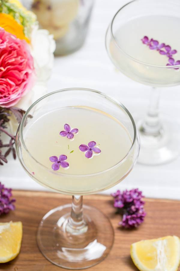 Lilac Pisco cocktail