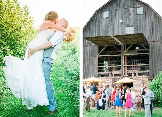 Rustic + Bright Wisconsin Wedding at the Enchanted Barn 17