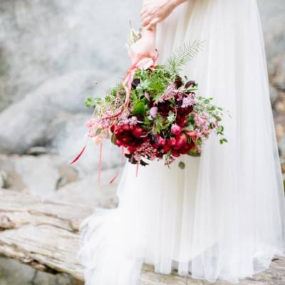 Styled Vermont Waterfall Elopement {The Light + Color}