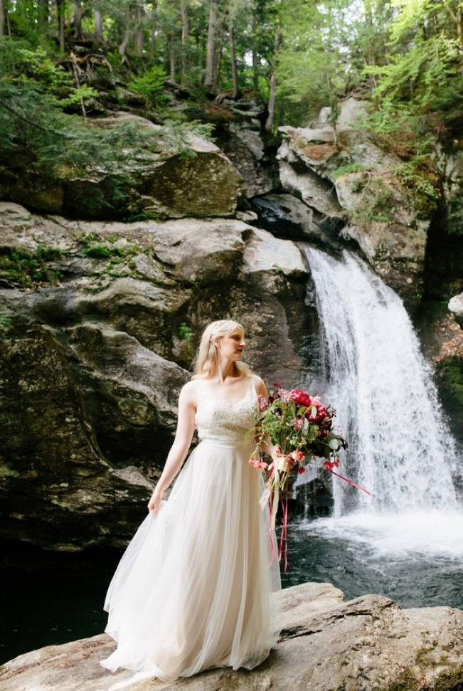 Styled Vermont Waterfall Elopement 5