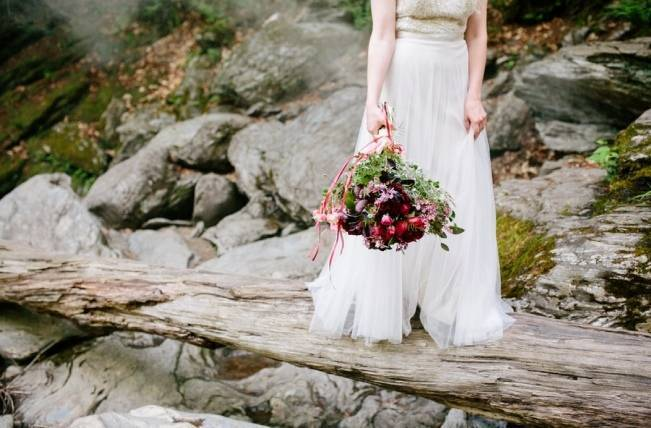 Styled Vermont Waterfall Elopement 7