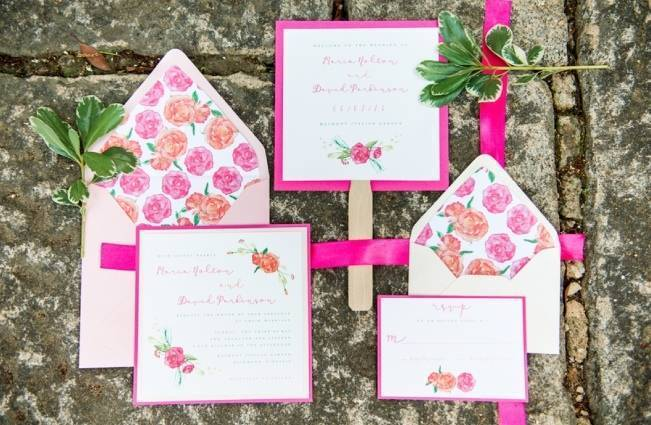 Vibrant Spring Garden Wedding Inspiration with Blush Gown 1