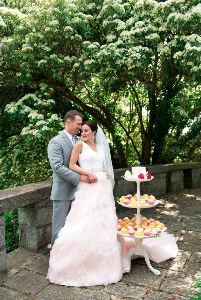 Vibrant Spring Garden Wedding Inspiration with Blush Gown 2