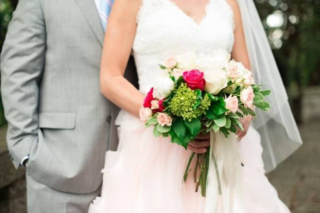 Vibrant Spring Garden Wedding Inspiration with Blush Gown 4