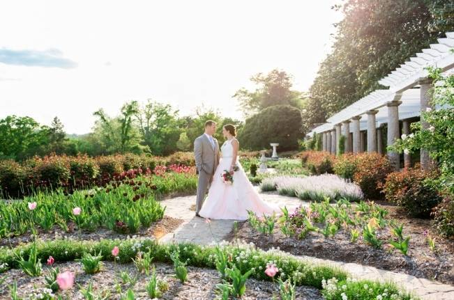 Vibrant Spring Garden Wedding Inspiration with Blush Gown 6
