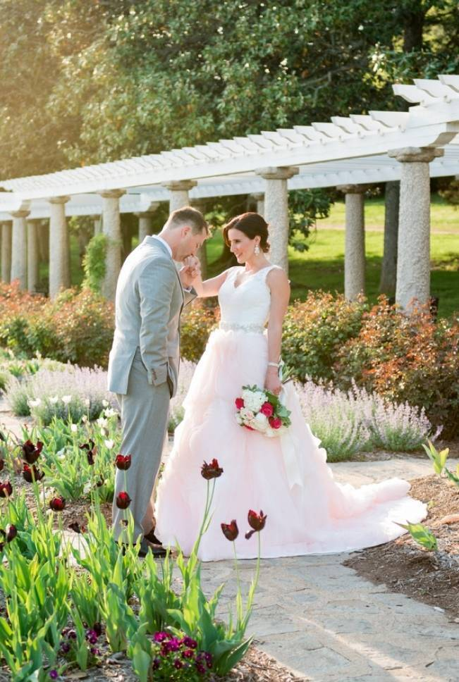 Vibrant Spring Garden Wedding Inspiration with Blush Gown 8