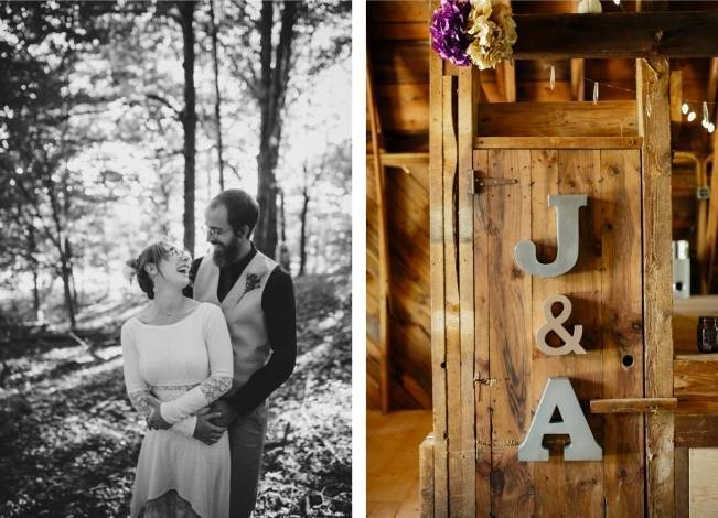 Folksy Supermoon Farm Wedding in Vermont 25