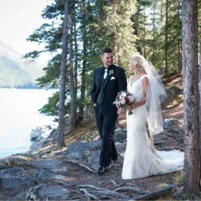 Plum & Ivory Rustic Alberta Mountain Wedding