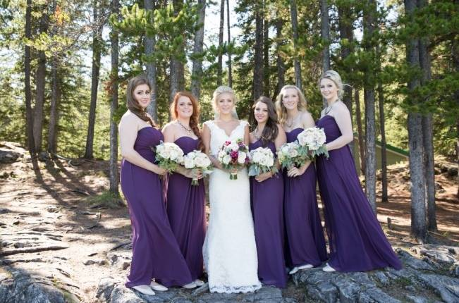 Plum & Nude Rustic Mountain Wedding – Melanie Bennett Photography 9