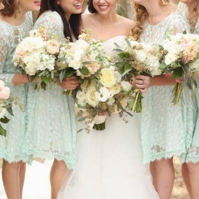 Rustic Mint + Taupe Alabama Barn Wedding