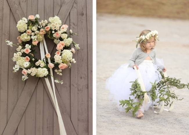 Rustic Mint + Taupe Alabama Barn Wedding 10