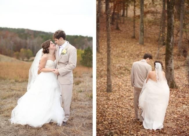 Rustic Mint + Taupe Alabama Barn Wedding 16
