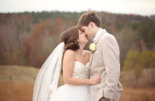 Rustic Mint + Taupe Alabama Barn Wedding 17