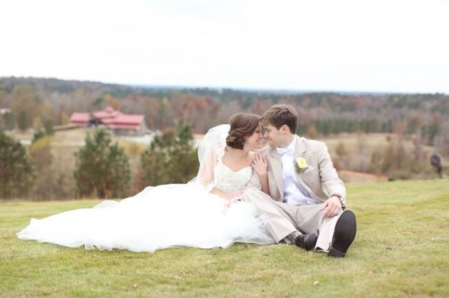 Rustic Mint + Taupe Alabama Barn Wedding 19