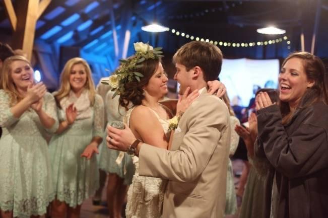 Rustic Mint + Taupe Alabama Barn Wedding 22