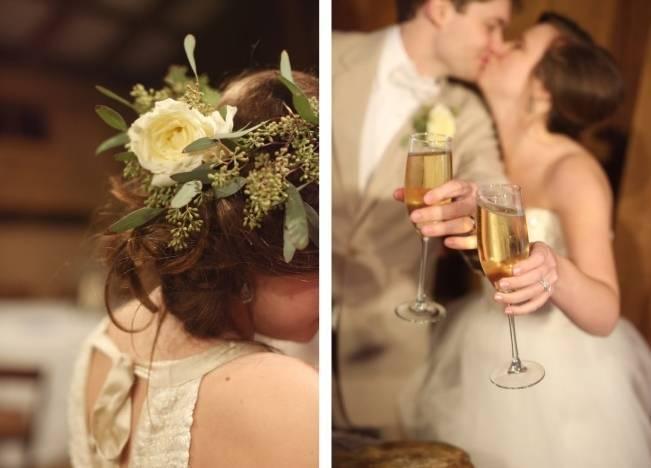 Rustic Mint + Taupe Alabama Barn Wedding 23