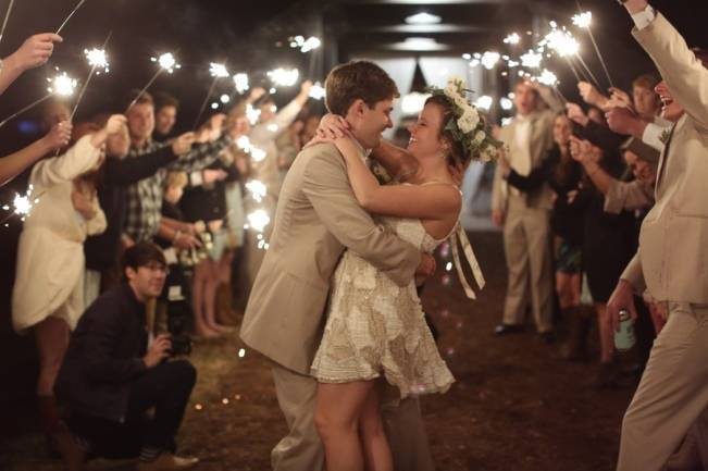 Rustic Mint + Taupe Alabama Barn Wedding 24
