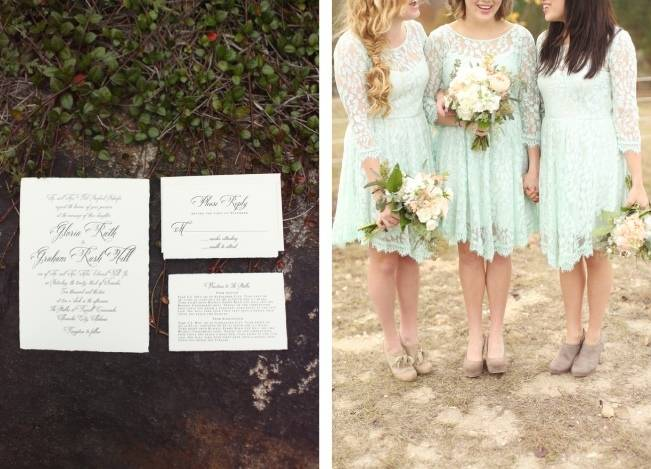 Rustic Mint + Taupe Alabama Barn Wedding 4