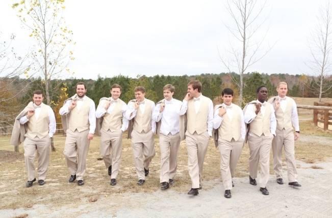 Rustic Mint + Taupe Alabama Barn Wedding 9